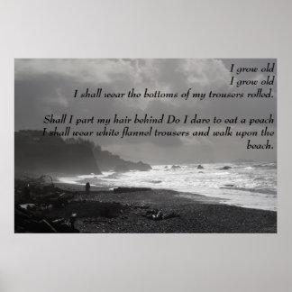 Crezco - un paseo sobre la playa - el poster viejo