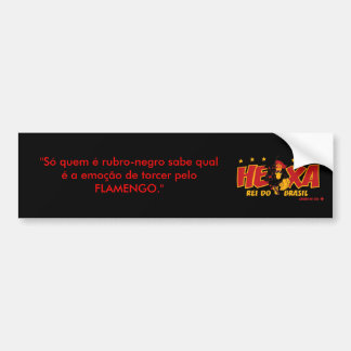 "CRF_UU_hexa_splash, ""who is rubro-black Only knows Bumper Sticker"