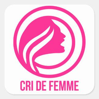 Cri de Femme promo Square Sticker