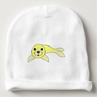 Cría de foca amarilla gorrito para bebe