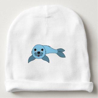 Cría de foca azul clara gorrito para bebe