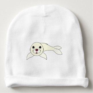 Cría de foca blanca gorrito para bebe
