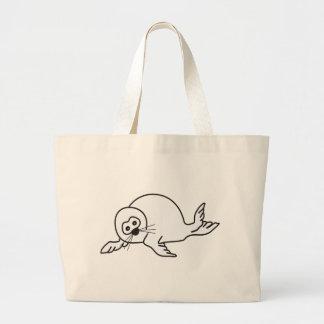 Cría de foca bolsas lienzo