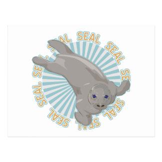 Cría de foca clásica postal