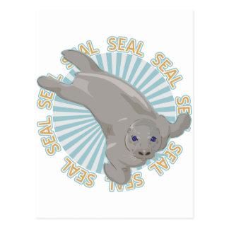 Cría de foca clásica tarjeta postal