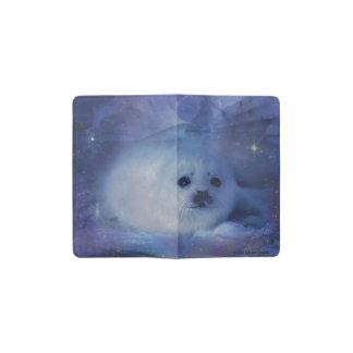 Cría de foca en el hielo - paisaje marino hermoso funda para libreta y libreta pequeña moleskine