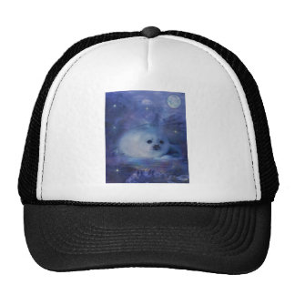 Cría de foca en el hielo - paisaje marino hermoso gorras
