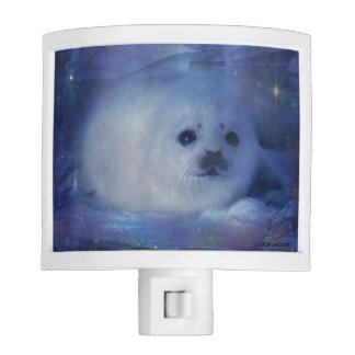 Cría de foca en el hielo - paisaje marino hermoso lámparas de noche