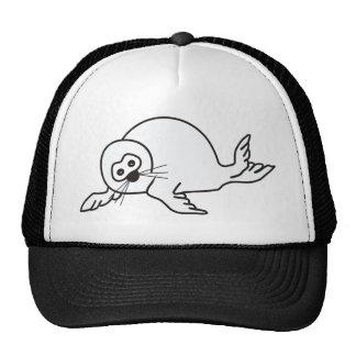 Cría de foca gorras