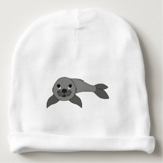 Cría de foca gris gorrito para bebe