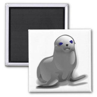 Cría de foca imán cuadrado