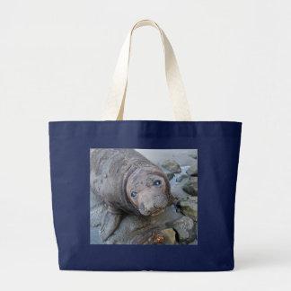 Cría de foca septentrional de elefante bolsa tela grande