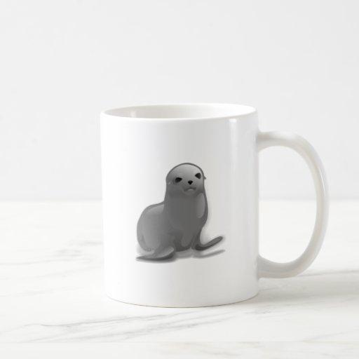 Cría de foca taza