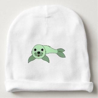 Cría de foca verde clara gorrito para bebe