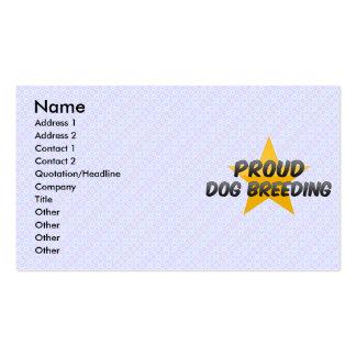 Cría de perro orgullosa plantillas de tarjetas personales