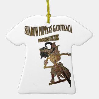 Cría del indonesio de Gatot Kaca de las marionetas Adorno De Cerámica En Forma De Camiseta