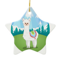Cria The Alpaca Ceramic Ornament