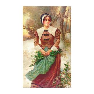 Criada 1897 del puritano impresion de lienzo