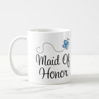 Criada azul del boda de la mariposa de la taza del