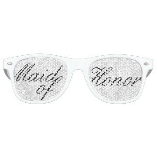 Criada blanca del damasco del fiesta de gafas de fiesta