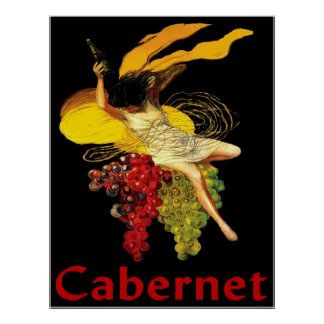 Criada Cabernet del vino Póster
