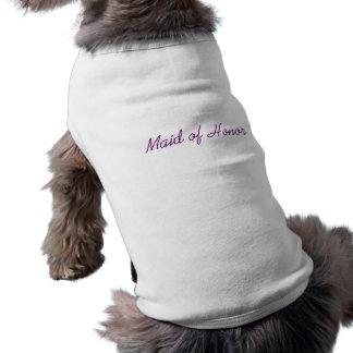 Criada camiseta del perrito del honor camisa de perrito
