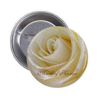Criada color de rosa poner crema blanca del botón  pin redondo de 2 pulgadas
