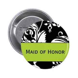 Criada de B&G del botón del honor Pin Redondo De 2 Pulgadas