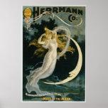 Criada de Herrmann del vintage del poster de la lu