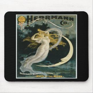 Criada de Herrmann del vintage del poster de la lu Tapetes De Ratón