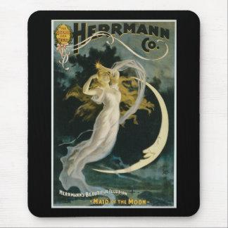 Criada de Herrmann del vintage del poster de la Alfombrilla De Ratón