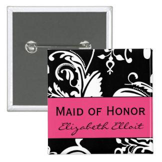 Criada de HP&B del botón del cuadrado del honor Pin Cuadrado