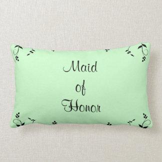 Criada de la almohada verde personalizada de Mojo