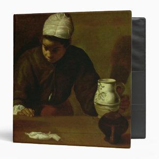 """Criada de la cocina con la cena en Emmaus, c.1618 Carpeta 1 1/2"""""""