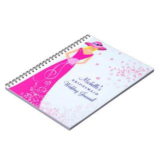 Criada de la dama de honor del cuaderno del diario