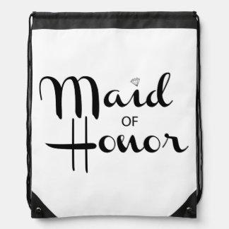 Criada de la escritura retra del honor mochila