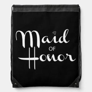 Criada de la escritura retra del honor mochilas