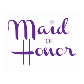 Criada de la escritura retra del honor postal