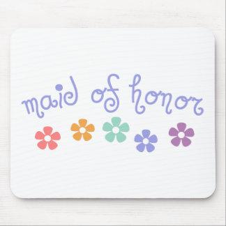 Criada de la Femenino-Señal del honor Mouse Pads