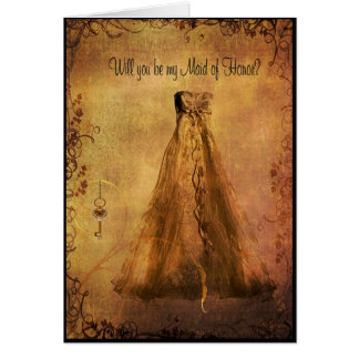Criada de la invitación del honor - vestido del es tarjetón