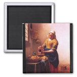 Criada de la leche de Juan Vermeer Imán