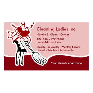 Criada de la limpieza de la casa tarjetas de visita