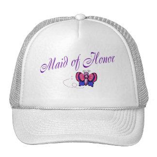 Criada de la mariposa del honor gorras