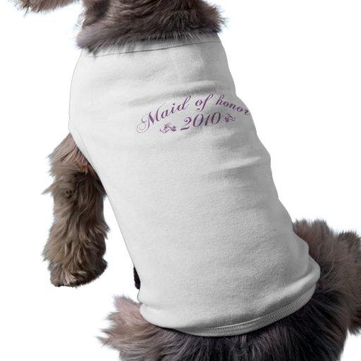 Criada de la ropa púrpura del mascota del honor 20 camisetas de mascota