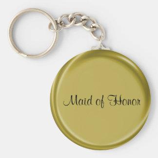 Criada de regalo de boda del llavero del honor