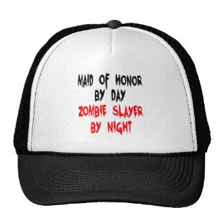 Criada del asesino del zombi del honor gorras de camionero