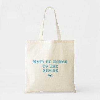 Criada del azul del tote del honor bolsa