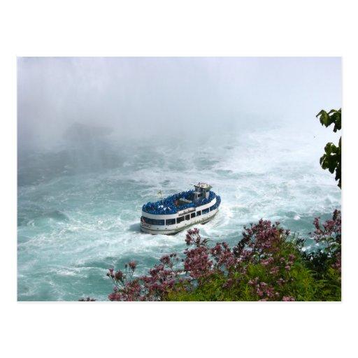Criada del barco de la niebla en Niagara Falls, Tarjeta Postal