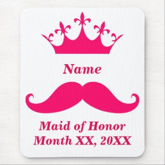 Criada del bigote Mousepad del rosa del honor