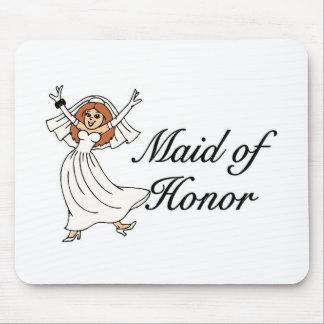 Criada del boda del honor alfombrilla de ratones